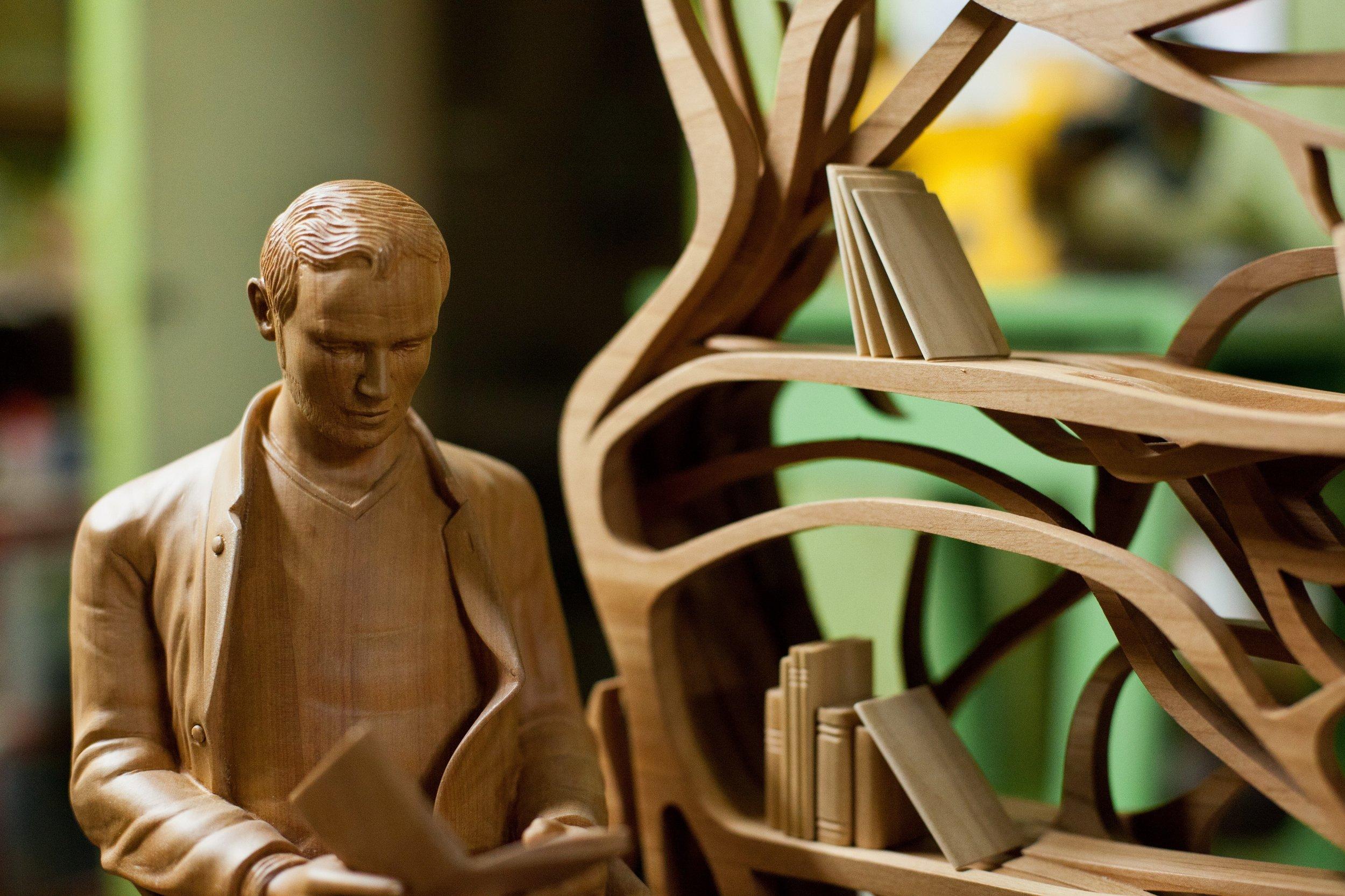 Sebastian ErraZuriz,  Metamorphosis maquette , 2009 (detail).Rauli.18 x 30 x 10 in.Courtesy of Sebastian Errazuriz Studio.2016.SE.01.Photo: Sebastian Errazuriz Studio  METHOD: Hand carved, dremels,rotary tools