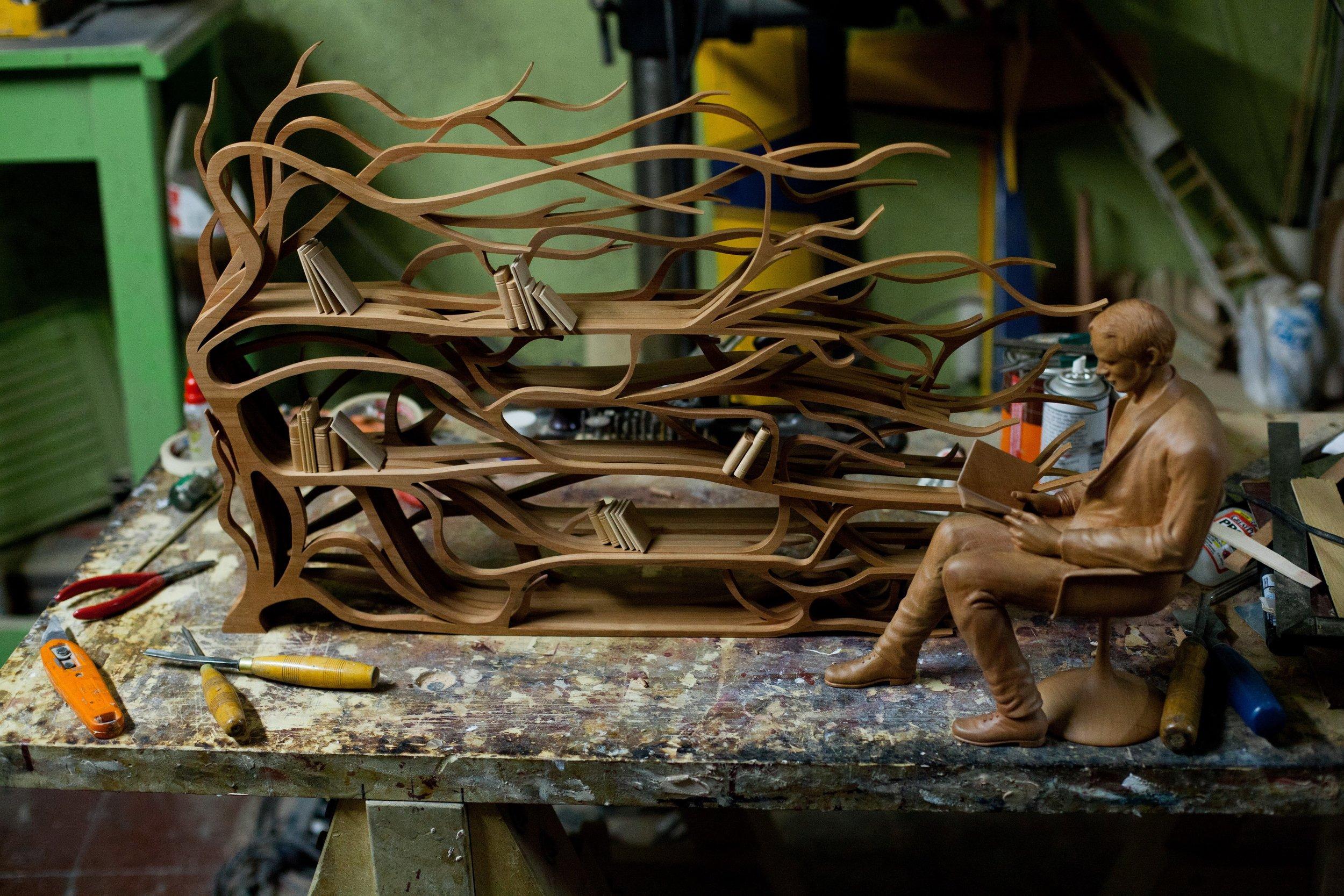 Sebastian ErraZuriz,  Metamorphosis maquette , 2009.Rauli.18 x 30 x 10 in.Courtesy of Sebastian Errazuriz Studio.2016.SE.01.Photo: Sebastian Errazuriz Studio  METHOD:Hand carved, dremels,rotary tools