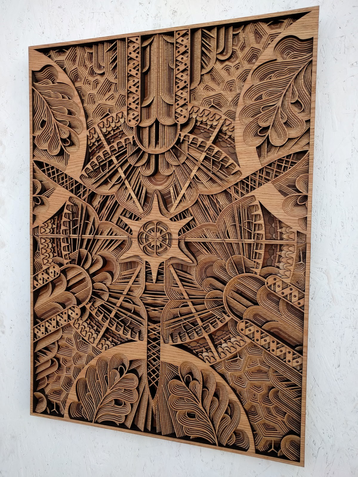 Gabriel Schama  , After Haeckel, 1 of 3 , 2016. Plywood. 31 x 41 in. Courtesy of the Artist. 2016.GS.01.  Photo: Courtesy of the Artist   METHOD: Laser cut