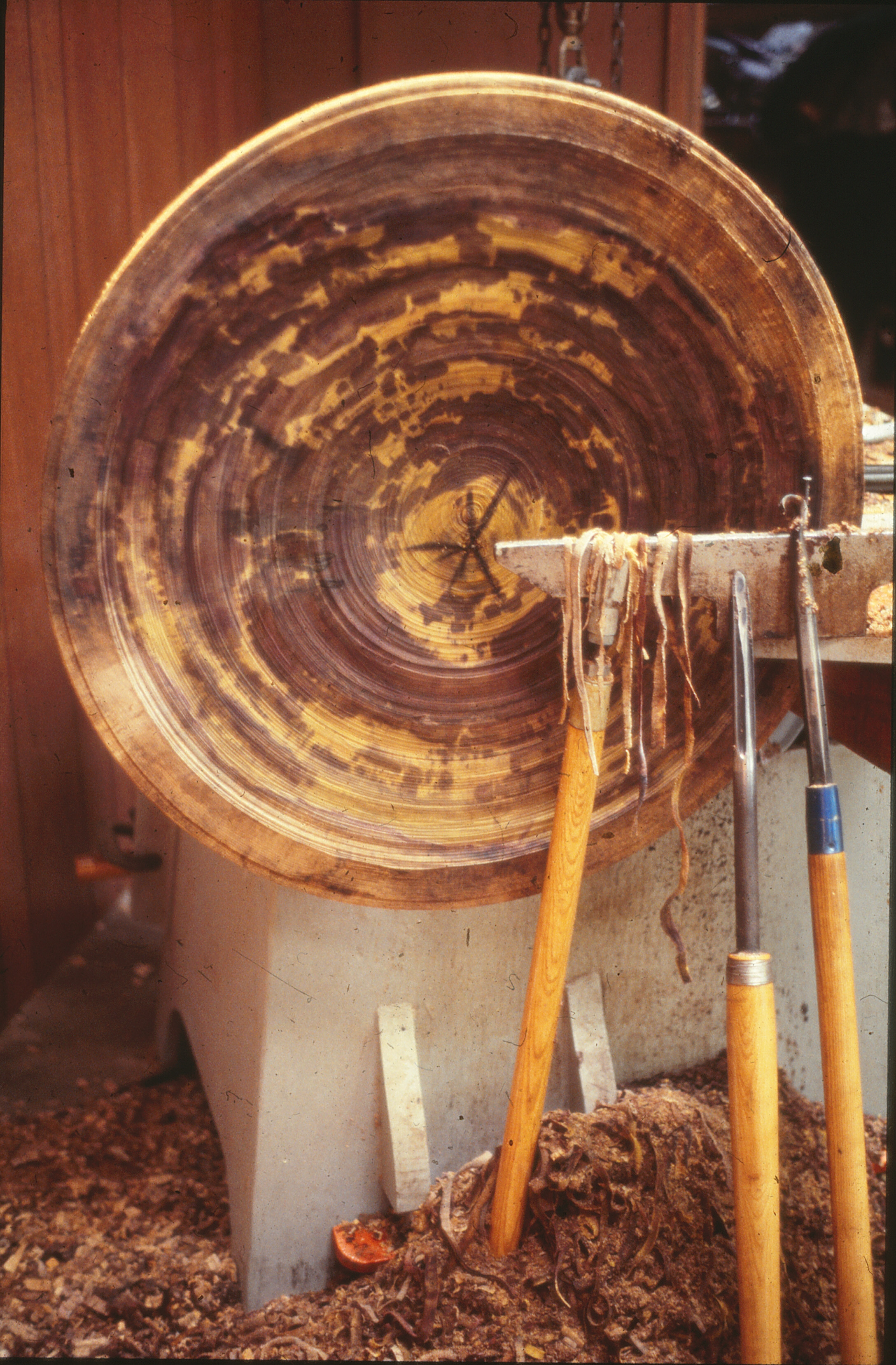 Fig. 13.  Roughed out plater form turned by Albert LeCoff and Ed Moulthrop, ca. 1977. The Center for Art in Wood's Fleur and Charles Bresler Research Library. Photo: Albert LeCoff