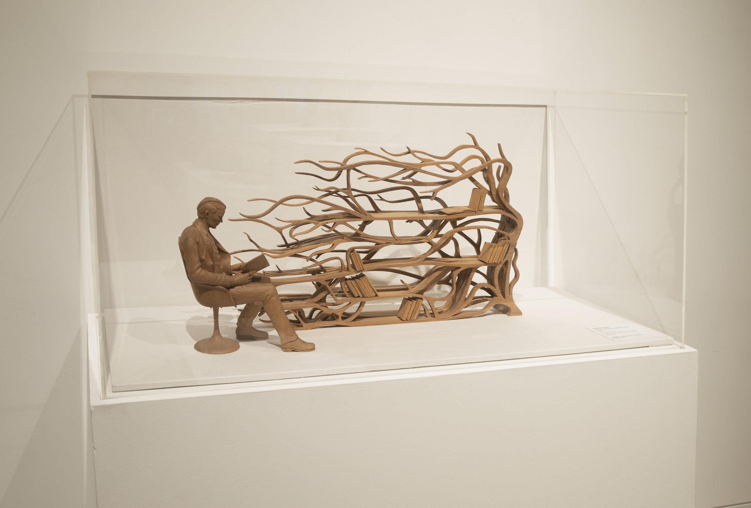 Sebastian ErraZuriz,  Metamorphosis maquette  , 2009.Rauli.18 x 30 x 10 in.Courtesy of Sebastian Errazuriz Studio.2016.SE.01.Photo: John Carlano    METHOD:Hand carved, dremels,rotary tools