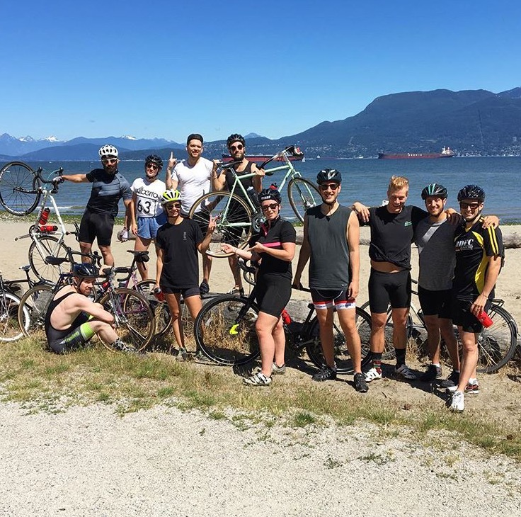 Vancouver on a bike