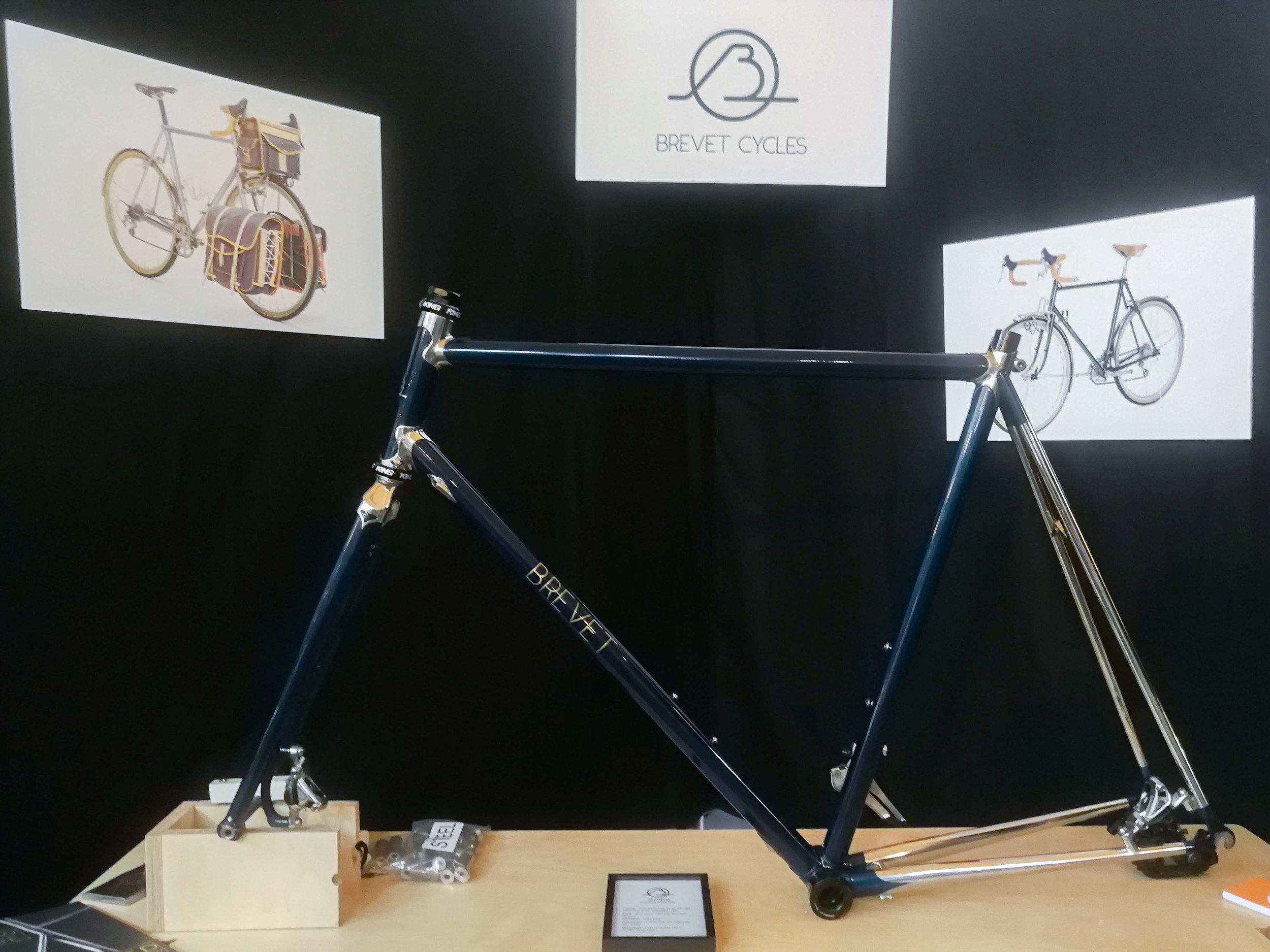 We're drawn to the beautifully polished seat stays on this frame.
