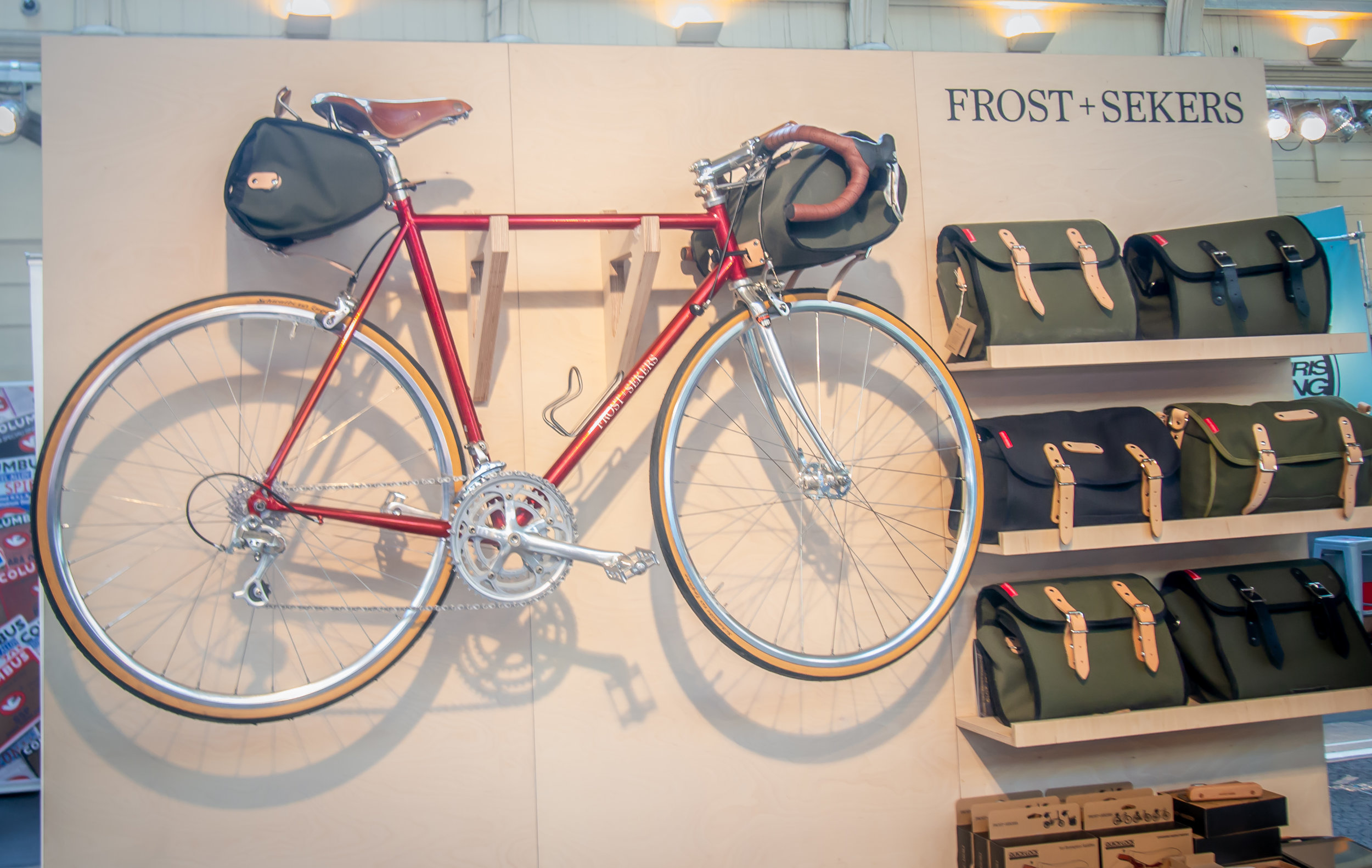A new range of saddle and handle bar bags from Frost and Sekers.