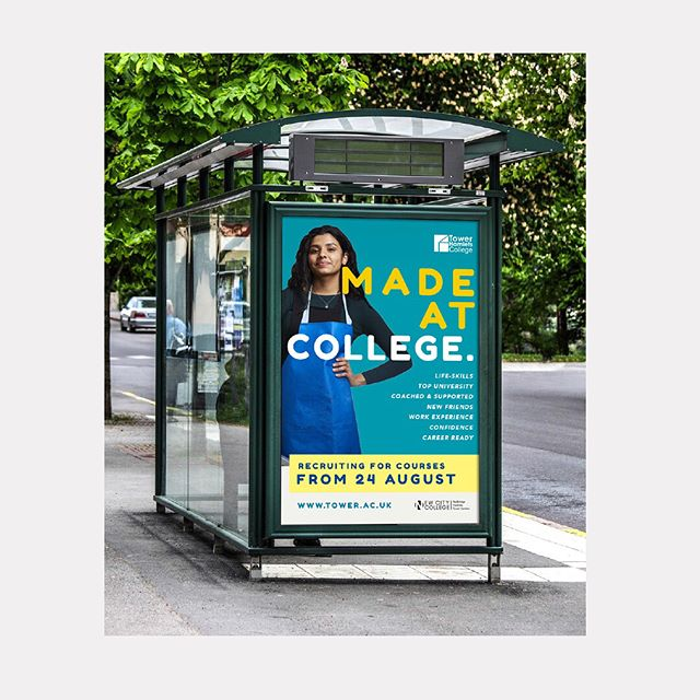 'Made at college' campaign for  New City College.  #campaign #college #student #itsnicethat #design #marketing #busstop #graphicdesign #designboom #designinspiration #hackney #redbridge #towerhamlets #prints #branding #creative #art