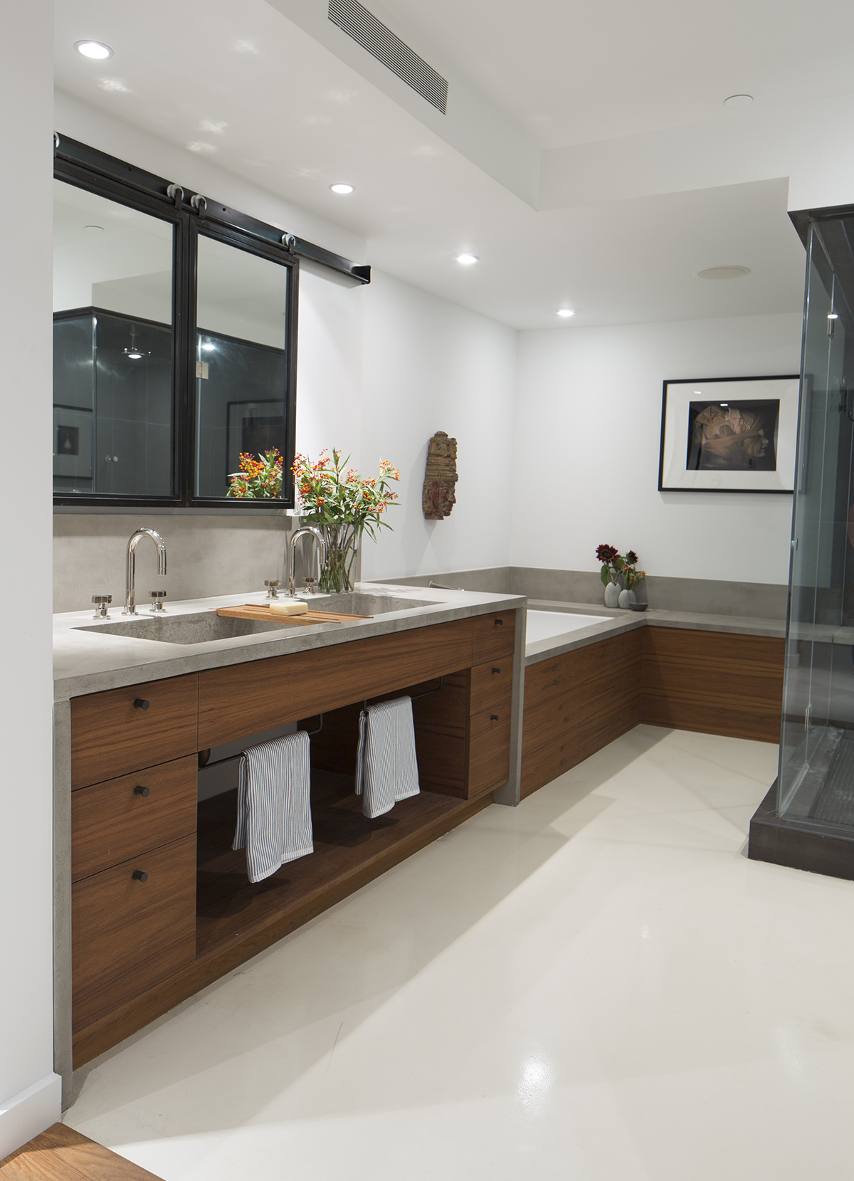 Get Real Surfaces concrete vanity and bathtub