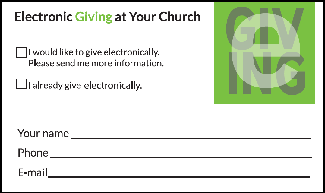Electronic Church Donation Response Card