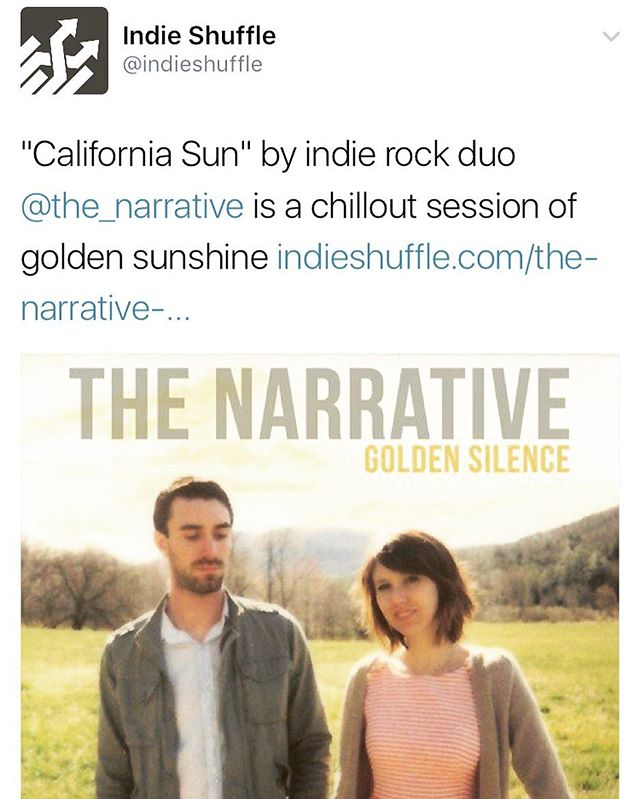 "Huge thanks to the kind folks at @indie_shuffle for supporting this new track. Listen to ""California Sun"" on IndieShuffle. Link in bio. New album out 12/2!"