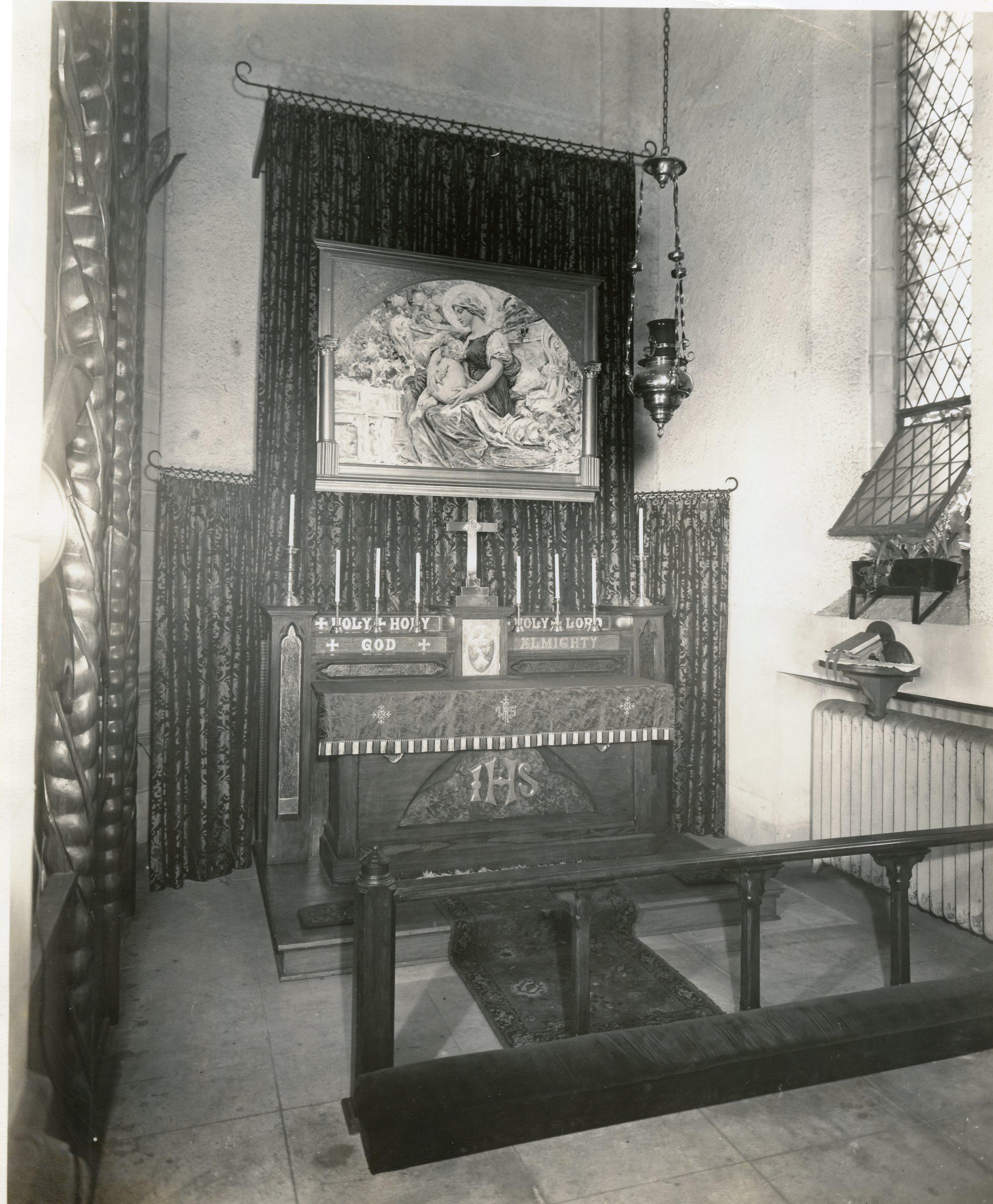 """Saint Mary's Chapel (The """"Lady Chapel""""), 1950s"""