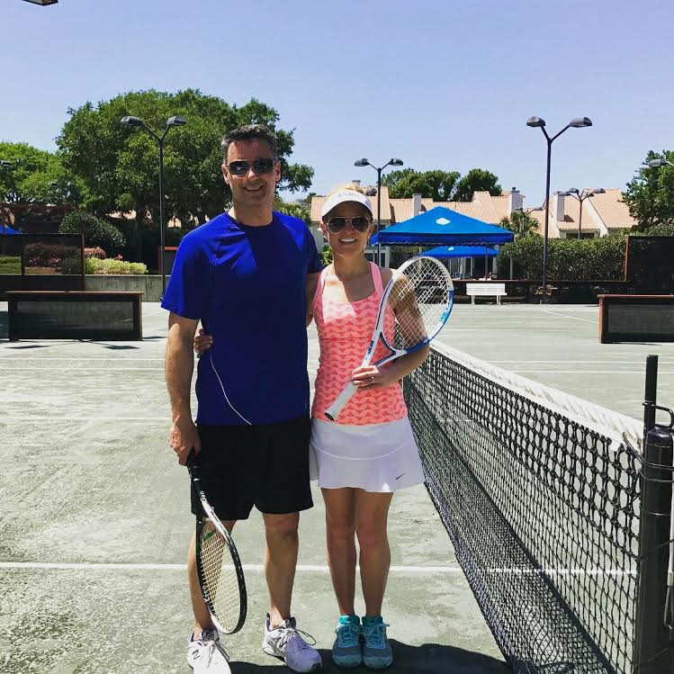Andy & Melissa on clay courts, Miramar Beach, FL
