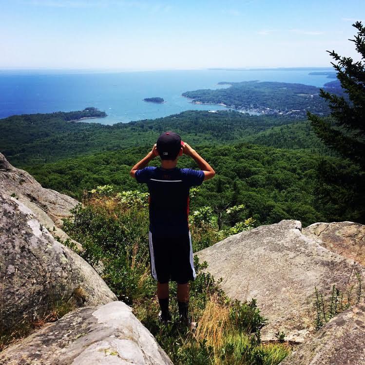 James on top of Mt. Megunticook, Camden, ME
