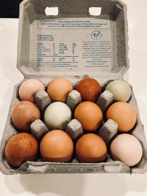 Cluck and Trowel eggs, Pawtucket Winter Farmers Market