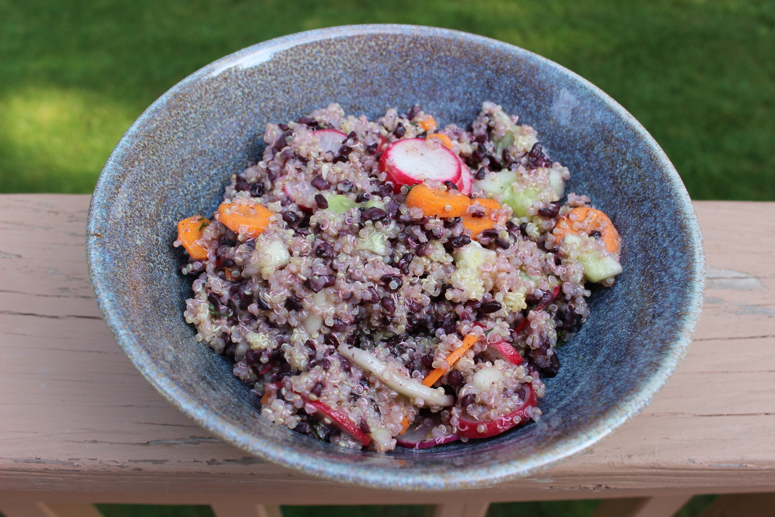 Quinoa & Black Rice Salad with Dill