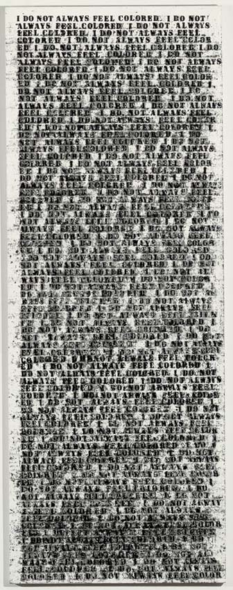Untitled (I Do Not Always Feel Colored), 1990