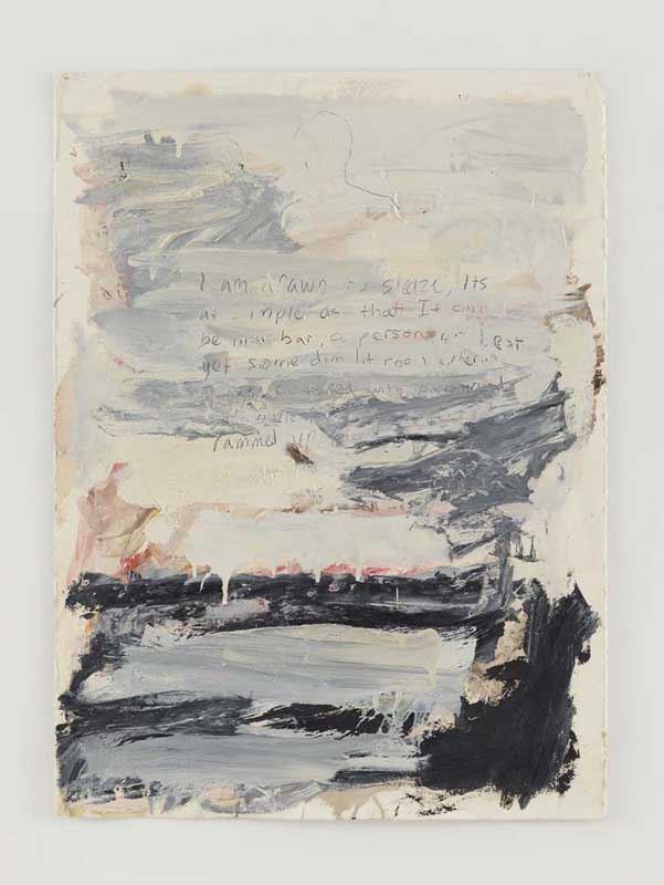 Untitled (I Am drawn to sleaze...), 1985