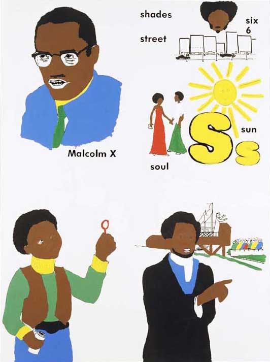 Malcolm X, Sun, Frederick Douglass, Boy With Bubbles (version 1) #1, 2000