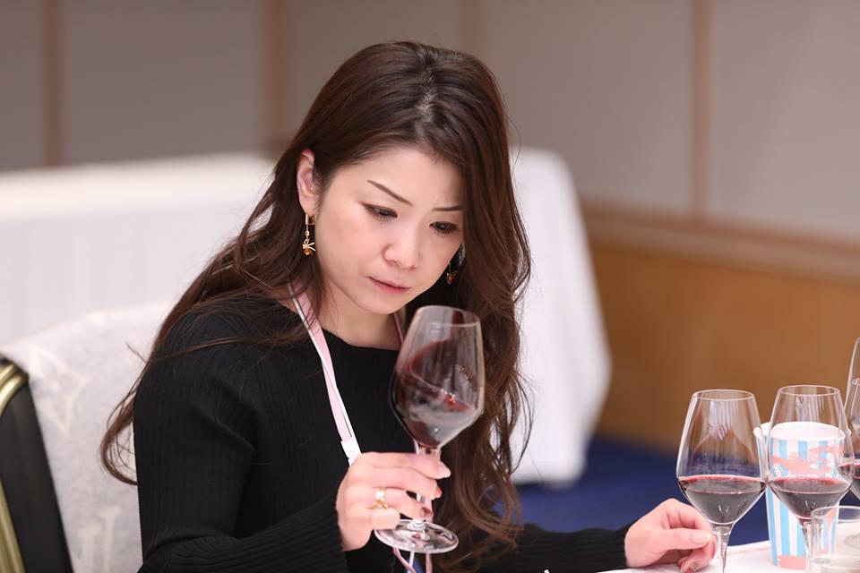 Female judge at Sakura Women's Wine Awards, Japan