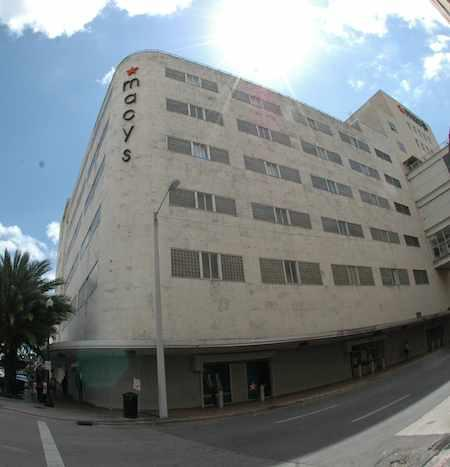 Macy's department store in downtown Miami would likely benefit from an overhaul of Flagler Street.