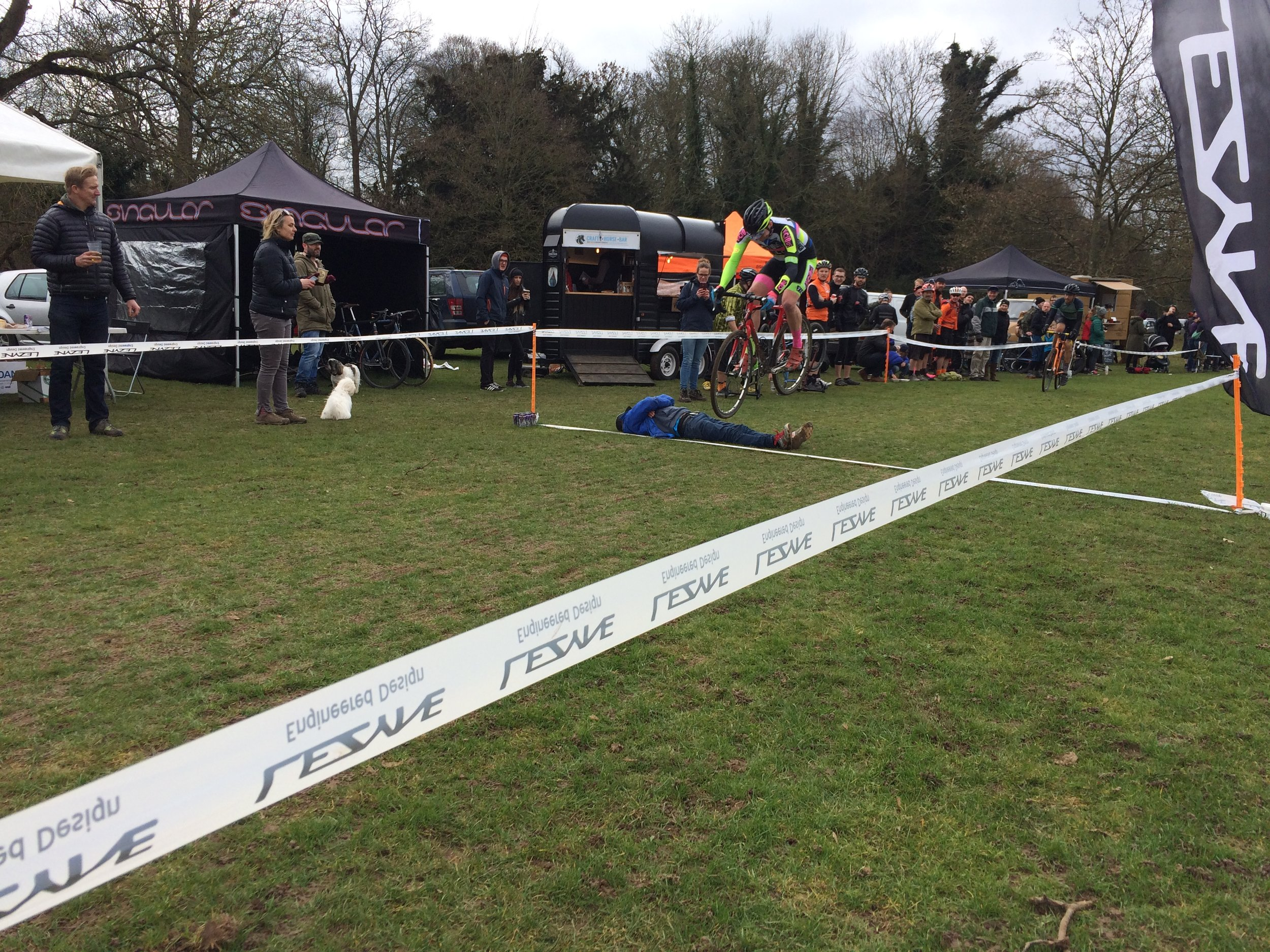 Not your usual cyclocross barrier...
