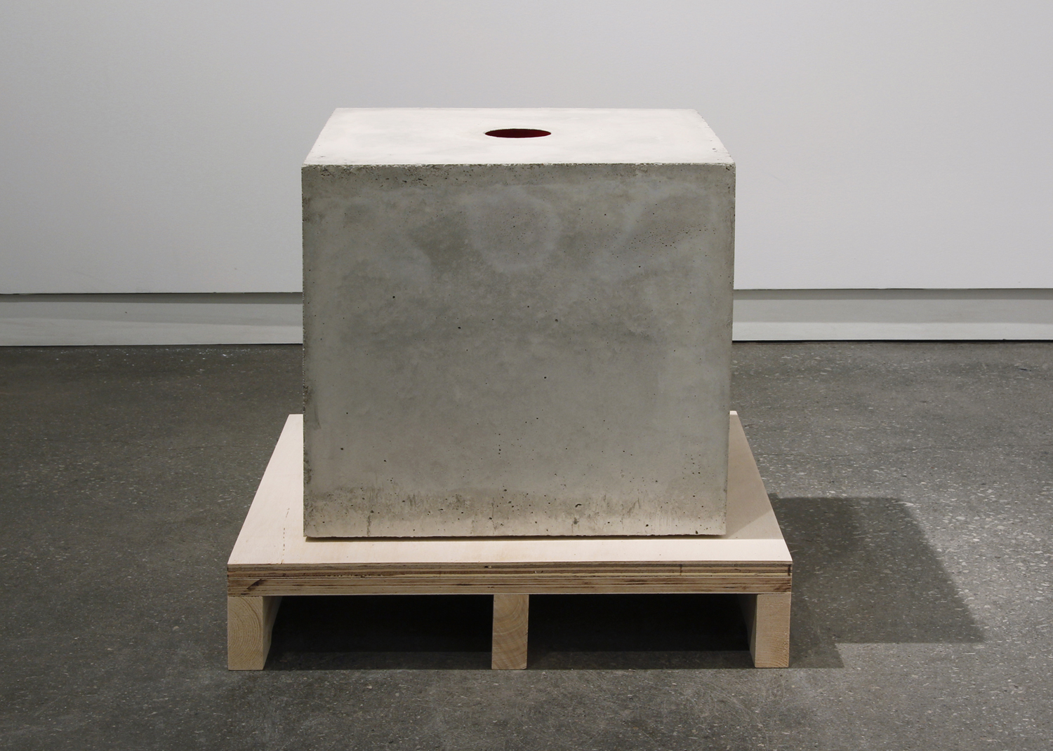 """Proud Flesh (2011), cast concrete and glass, three objects; 18"""" x 18"""" x 18"""""""