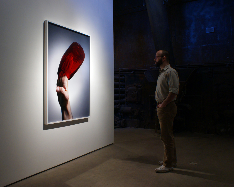 "Handle (2009), chromogenic print; 55"" x 40""  Installation view at Clark and Faria, Toronto, Canada"