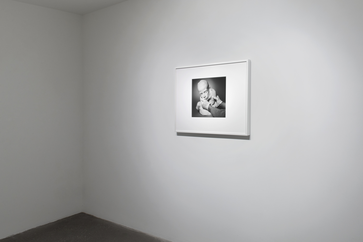 "Lifecast  (2017) gelatin silver print, 13.5"" x 15""  Installation view of  Unruly Matter  at Daniel Faria Gallery, Toronto, Canada"