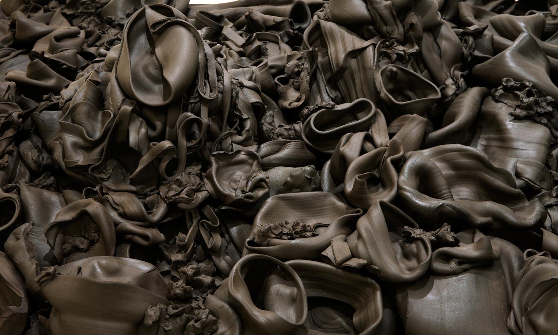 That, There, It  (2015) ceramic; 4' x 8' x 1.5'