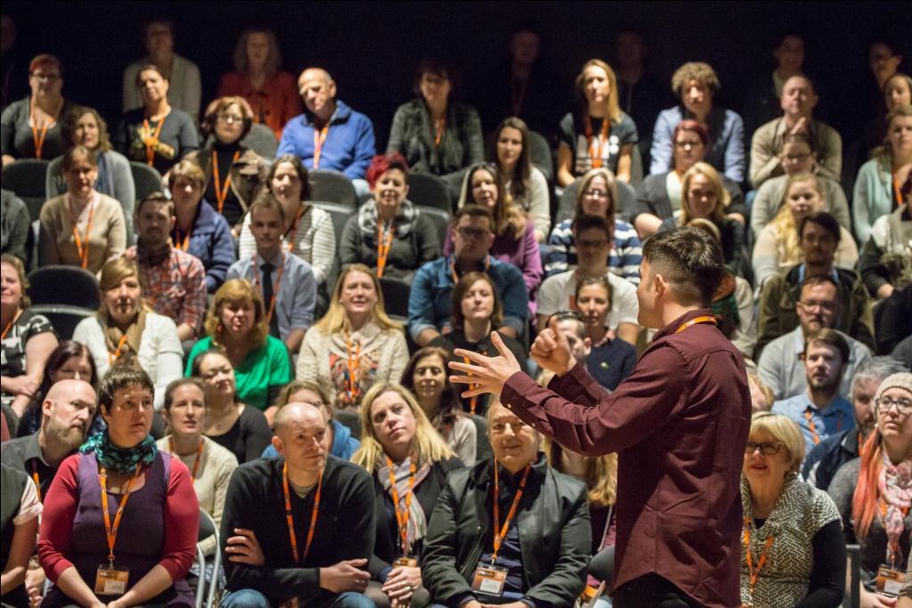 Delivering the Keynote Presentation at the Big Gig, Melbourne, Australia