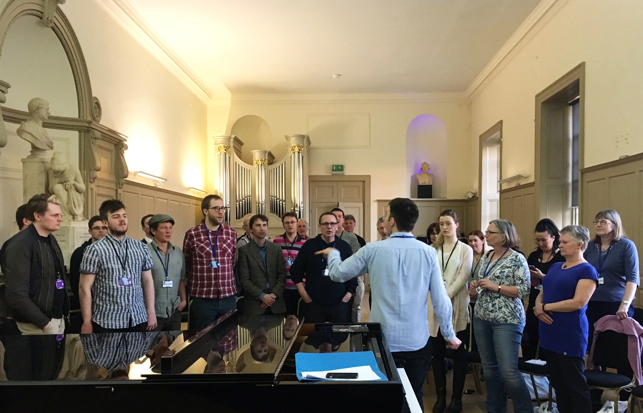 Working with a choir at Trinity Laban
