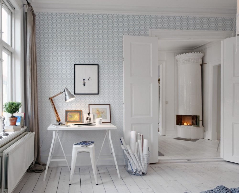 Home office. Sweden. Interior design by Alvhem. Photography by Cim EK. From the book  Your Creative Haven  by Donald M. Rattner (Skyhorse Publishing, 2019).
