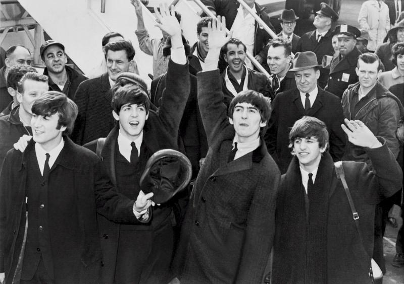 The Beatles in New York, 1964. Photography via Pixabay.com.