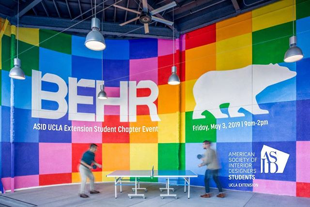 Join us at Behr's brand new HQ for an exclusive on-site tour and product trial! Get previews and demos, then try and apply Behr's new products yourself! - •When: Friday, May 3, 2019, 9am-2pm •Where: Behr HQ (1801 E. St. Andrew Place, Santa Ana, CA 92705) •Cost: ASID Members: $8 / Non-ASID Members: $12 - Register link in bio! - *Complimentary lunch & gift cards will be provided. *Parking on site *This event is open to UCLA Extension ARC-ID students only* - #interiordesigner #interiordesign #uclaextension #asiduclaextension #interiorarchitecture #asid