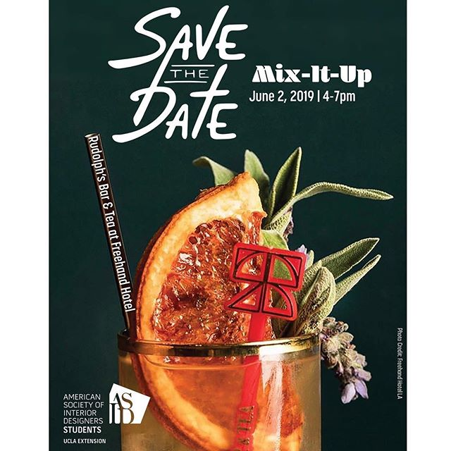 SAVE THE DATE for our annual Mix-It-Up!💃🏻 - •Sunday, June 2nd, 2019 | 4-7PM •Rudolph's Bar and Tea at Freehand Hotel - STAY TUNED for more exciting info!!! 💫✨😘