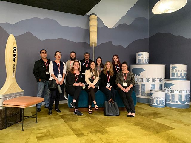 We had so much fun touring the new @behrpaint headquarters and testing new products on Friday! Thanks for having us! - #asid #asiduclaextension #behrpaint #interiordesign #interiordesigner #uclaextension