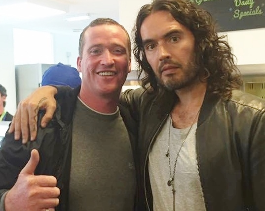 David Higham with Russell Brand