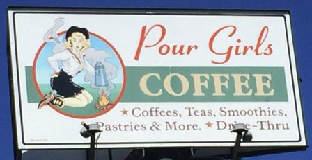 Pour Girls Coffee - Large Format Menu Board