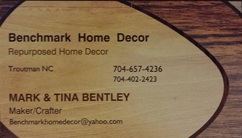 Benchmark Decor & More - Vertical Business Card +Vendor Marketing [LOCAL]