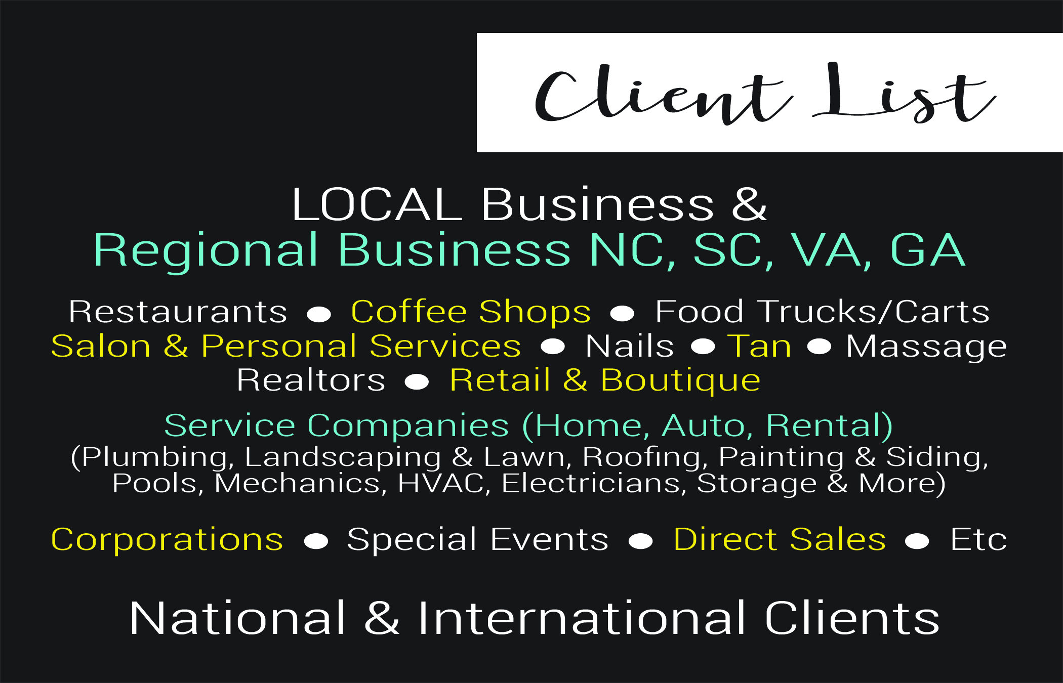 BlackWhite Creates Tools For Success! Cyndie Has Worked With Large Corporations, Small Businesses, Solopreneurs, and Sales Ambassadors - Find Out How BlackWhite Business Helper Can Assist You in 2019!