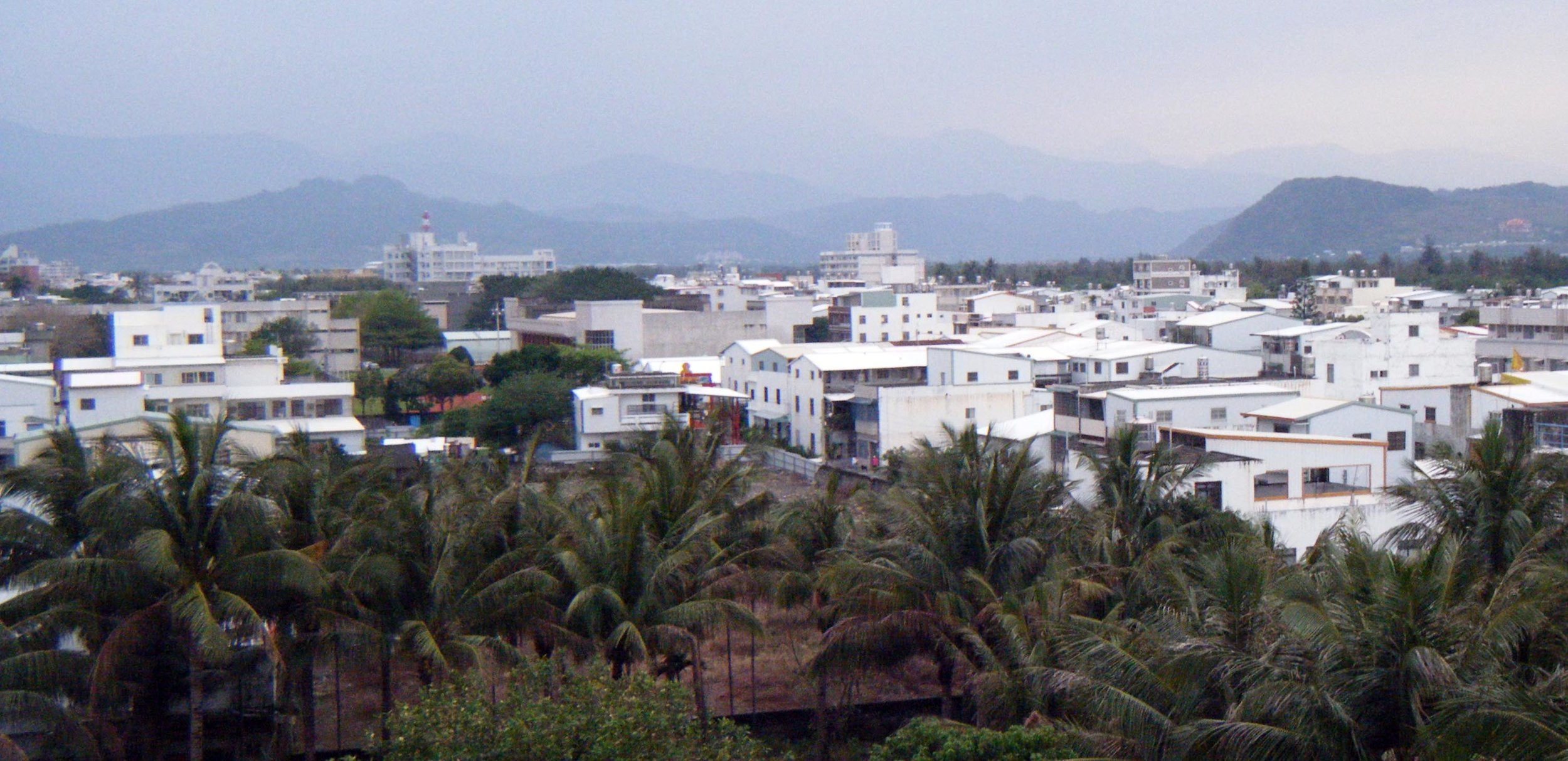 Taitung city from our hotel room.jpg