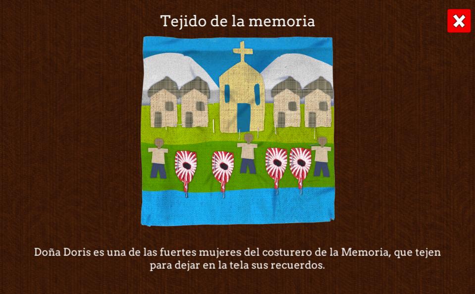 Tejido de Doña Doris, Reconstrucción