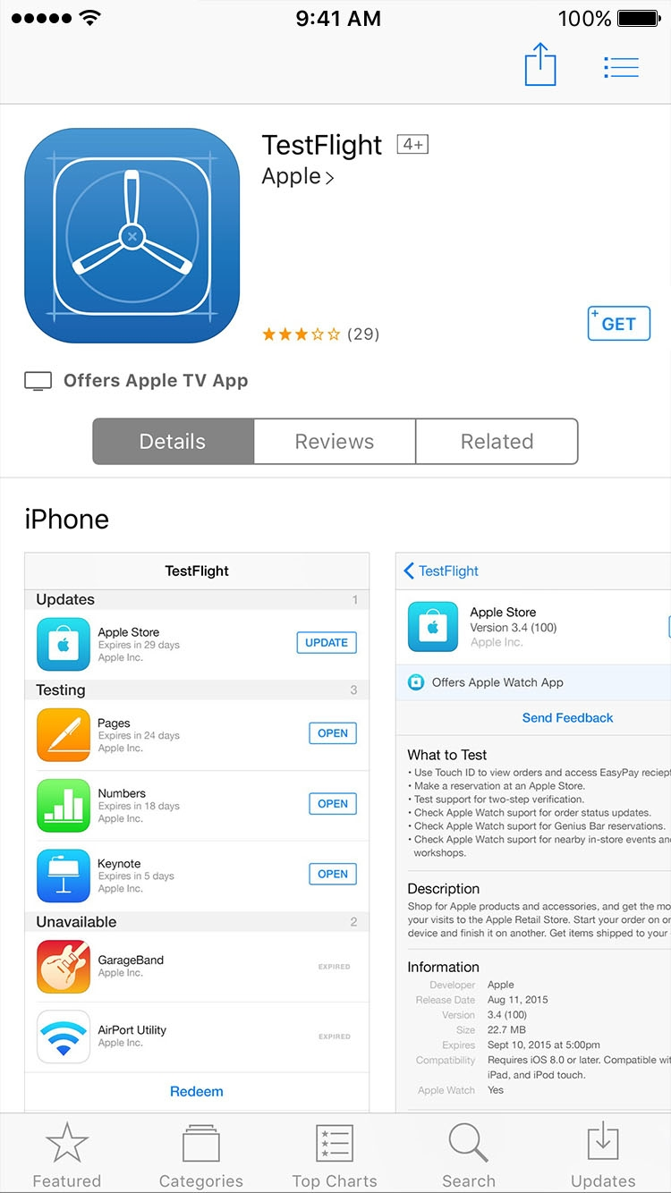 1. download TestFlight in App Store
