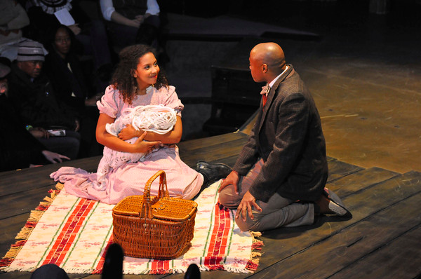 Sarah in Ragtime with Erich McMillian-McCall as Coalhouse (CNR Drama)