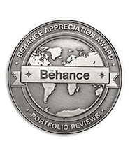 2017 Bēhance Appreciation Award  for Top 3 Best of Show at Pensacola Designers Portfolio Review