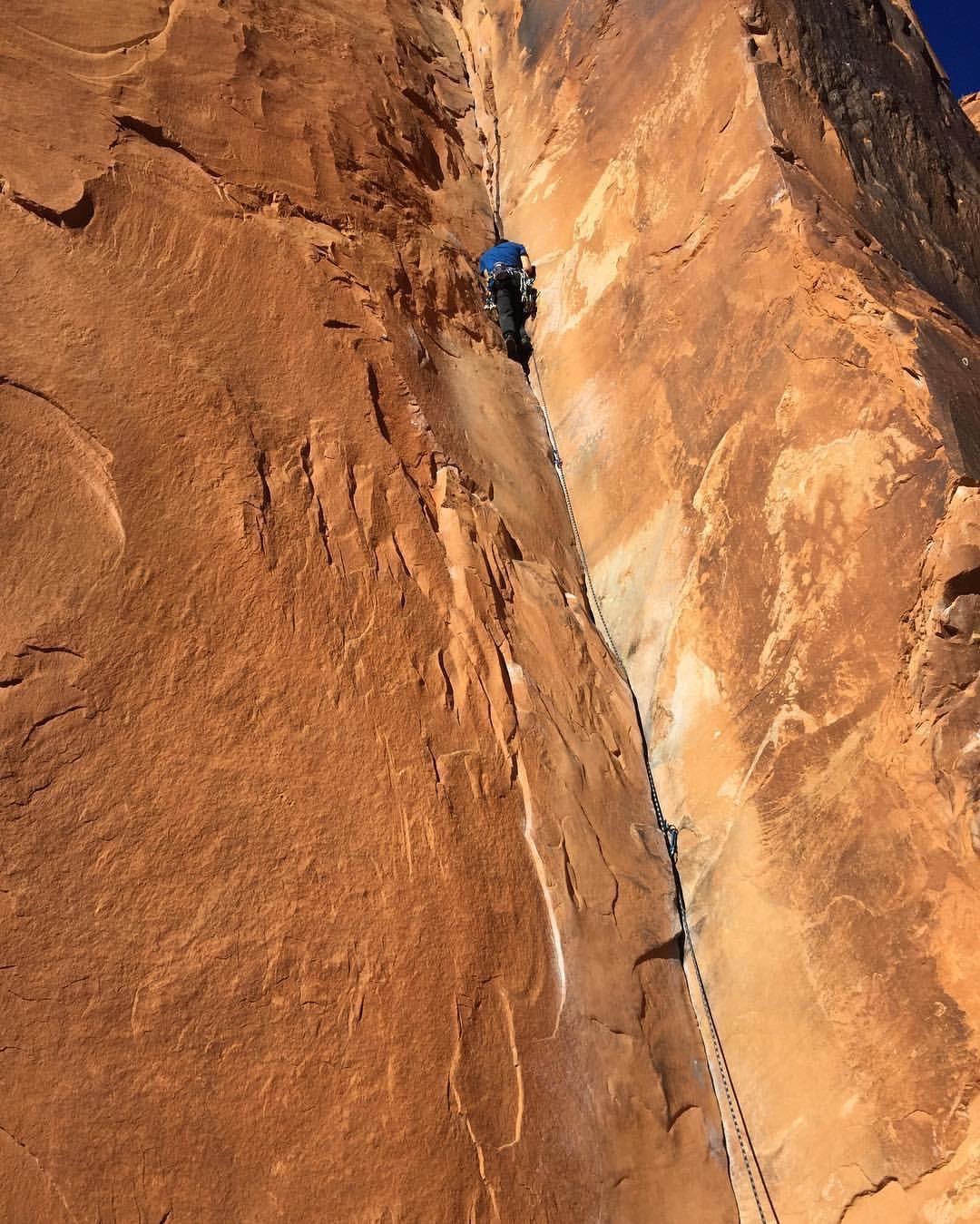 Rock climbing, rock guide, Moab, Utah