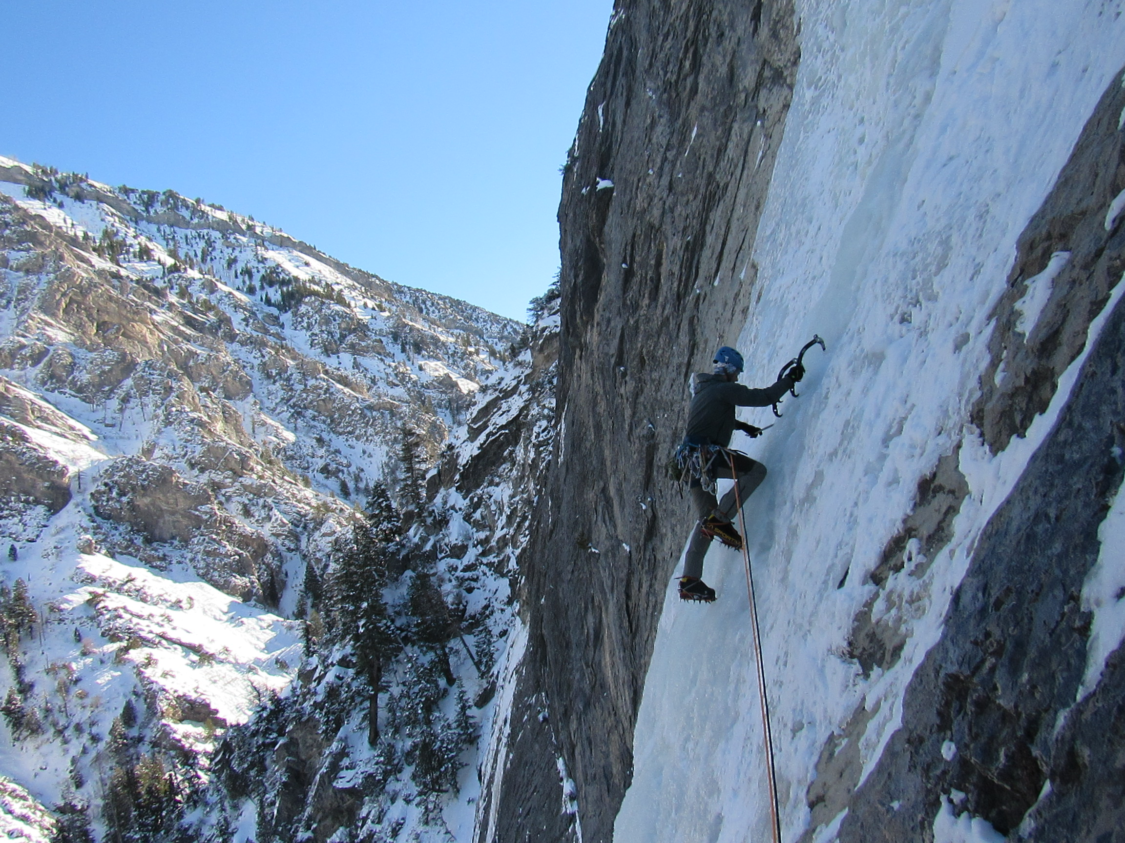 Ice Climbing - Guided climbs or instruction based out of the Wasatch mountains in UtahLearn more ➝