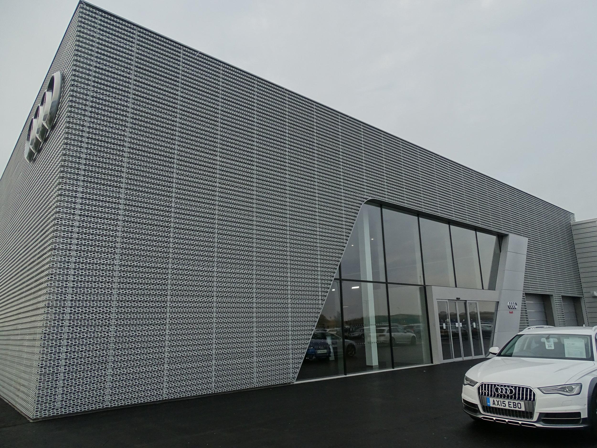 EDM Spanwall anodised aluminium perforated rainscreen cladding