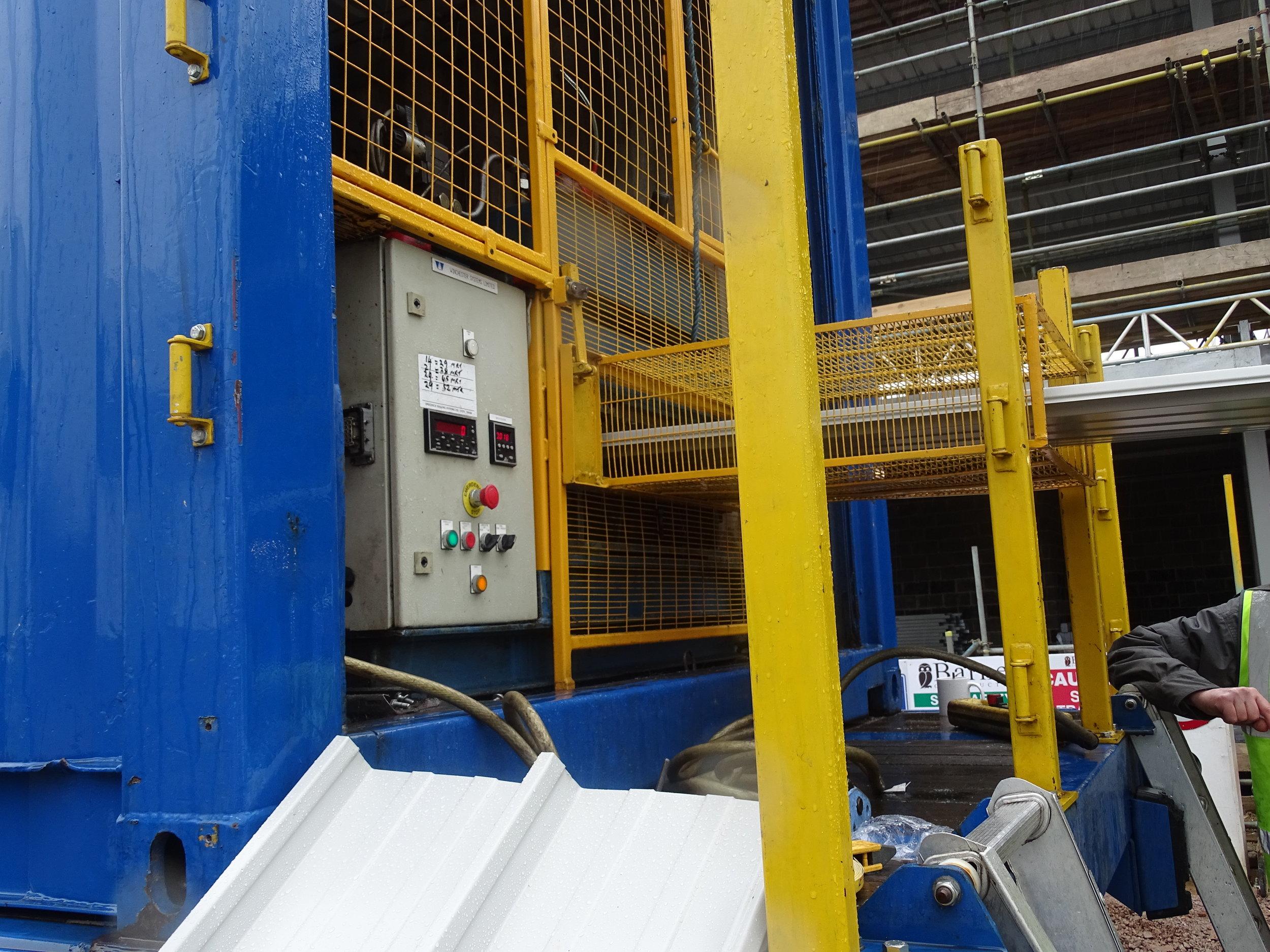 Omnis Exteriors onsite rolling equipment