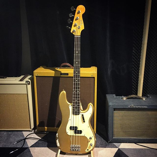 A Super cool 67 precision bass ready for Park Studios 👌#fenderpbass #fenderbass #fender #bass #bassplayer