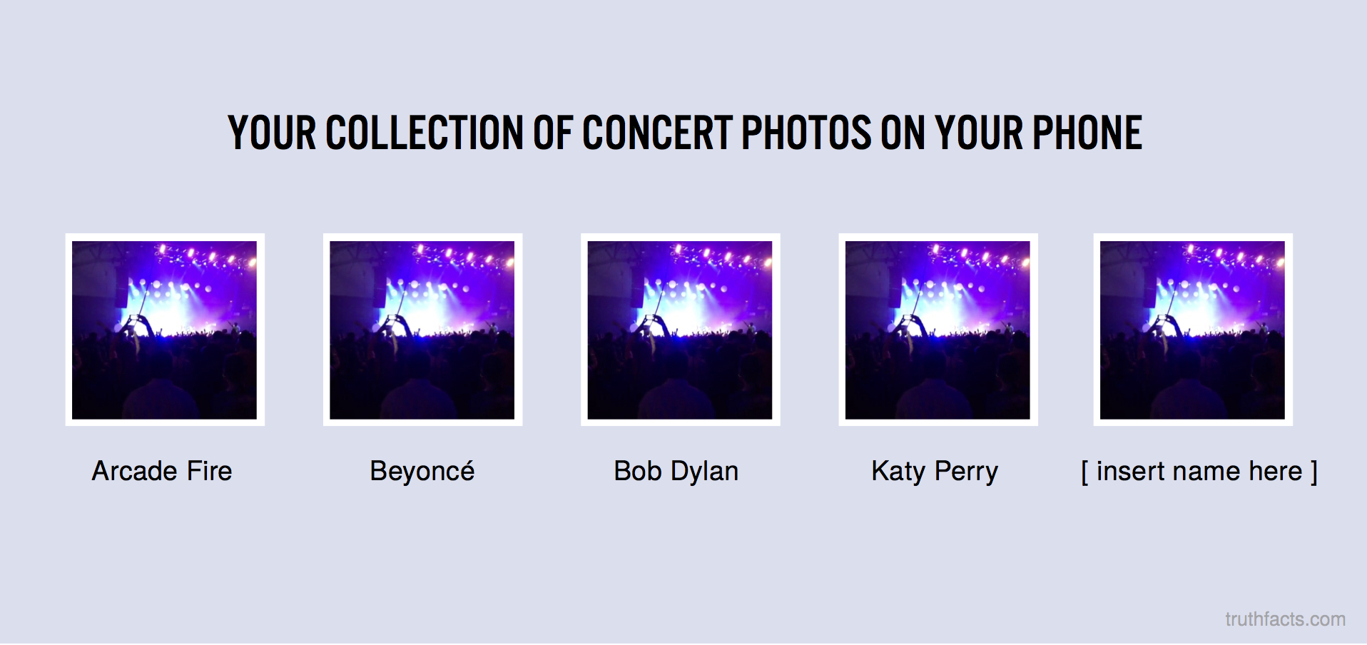 Your collection og concert photos on your phone