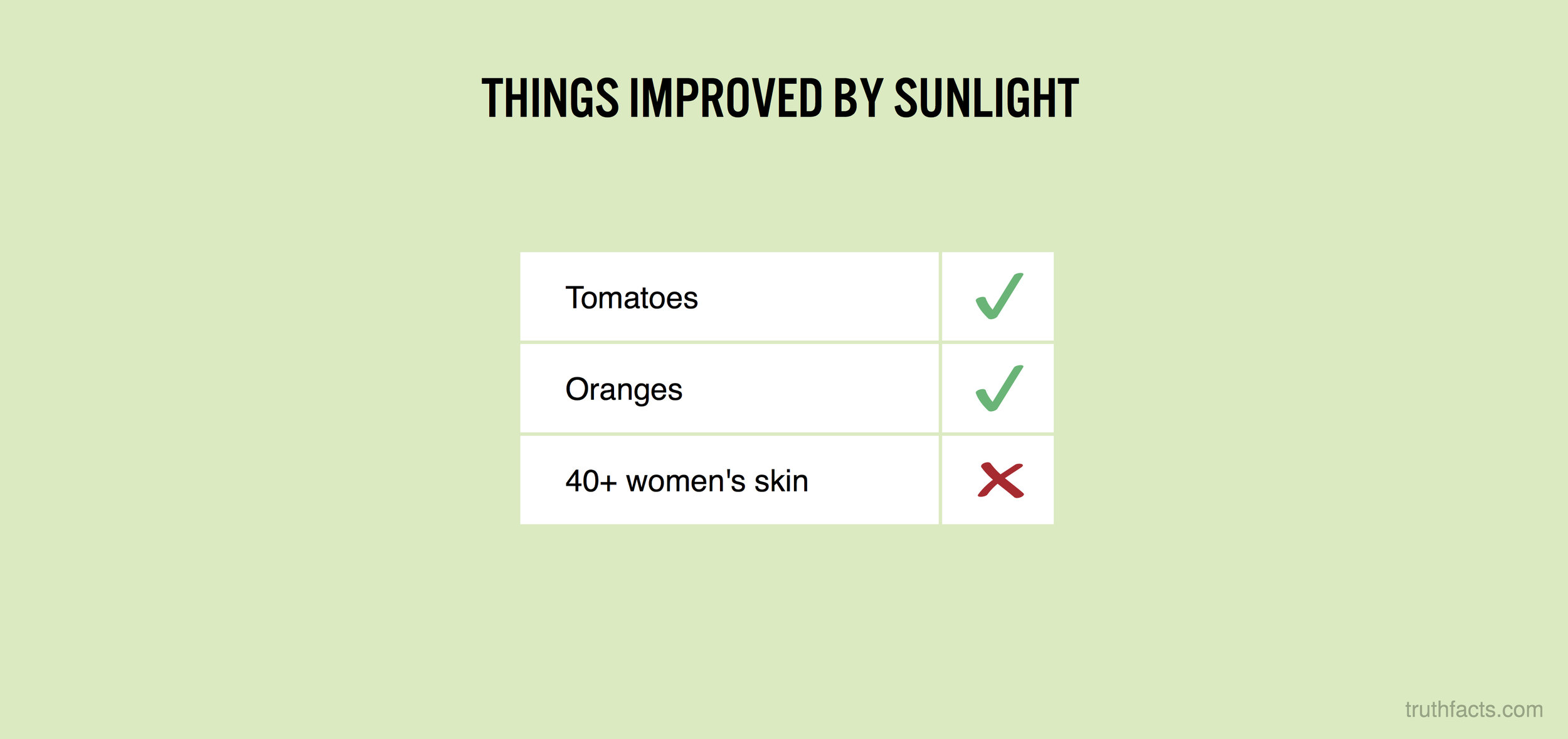 Things improved by sunlight